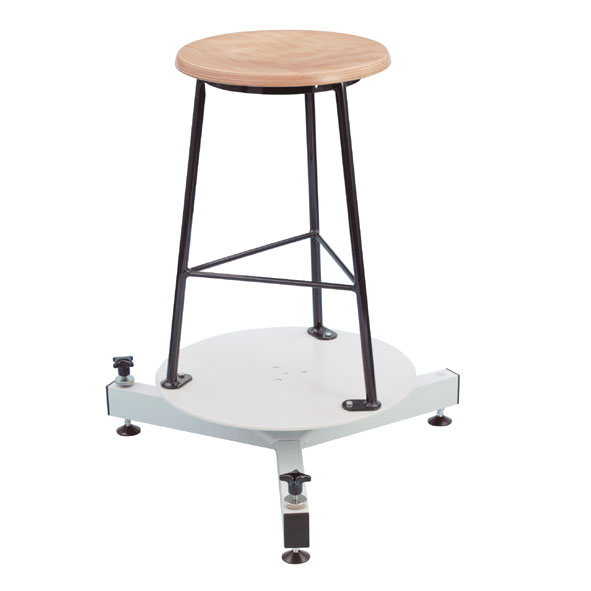 Prandtl's rotatable disc with stool