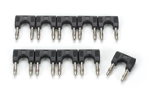 Set of 10 bridging plugs, black
