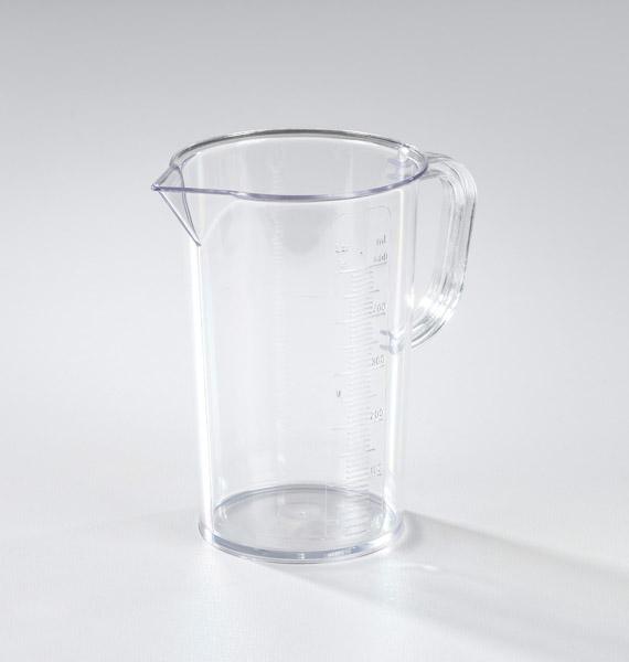 Measuring beaker, clear SAN 500 ml