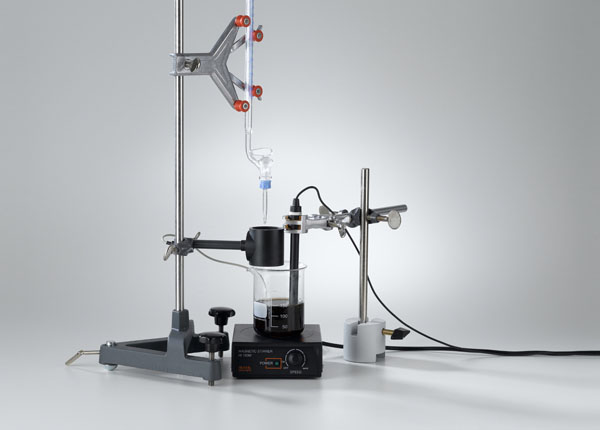 Determination of acid concentration by titration with drop counter
